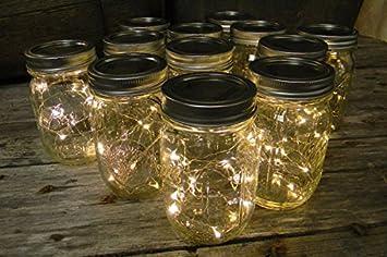 mason jars lighting. mason jar light 16 oz pint warm white battery fairy lights set jars lighting o