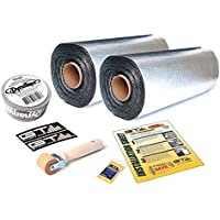 100 sqft GTmat Ultra 80mil Roll (18 x 33.3) Automotive Audio Sound Deadener Deadening Noise Dampener with Genuine Dynamat Tape