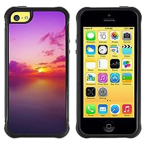 "Hypernova Defender Series TPU protection Cas Case Coque pour Apple iPhone 5C [Sunset Beautiful Nature 73""]"
