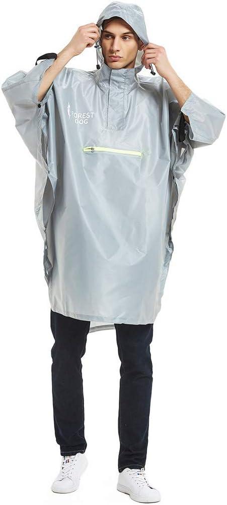 Black Lightweight Sttech1 Mens Womens Raincoat Portable Reusable Rain Poncho,Waterproof Belted Hooded Military Waterproof Mountaineering Raincoat