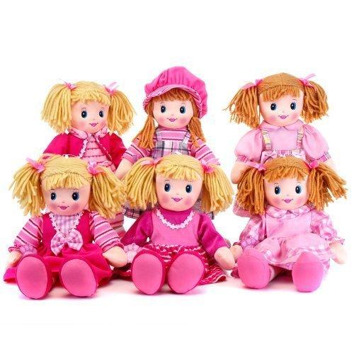 Rag Doll Accessories (8 Inch Rag Doll With Dress - Ragdoll Accessories - Girls Toys)