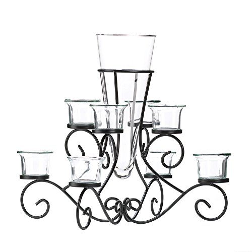 (Koehler Holiday Season Home Decor Scrollwork Candle Stand Tabletop Centerpiece Vase)