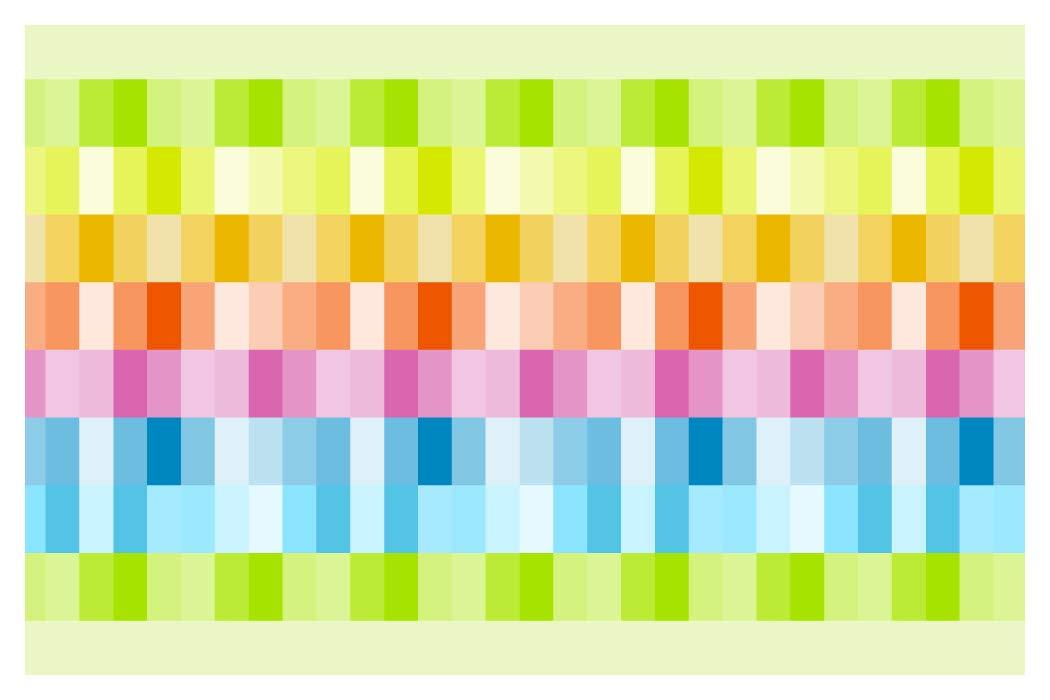 I-love-Wandtattoo b-10150 - Bordo decorativo adesivo da parete, varietà di colore estivo, per la cucina, il soggiorno, la camera dei bambini, 5 m