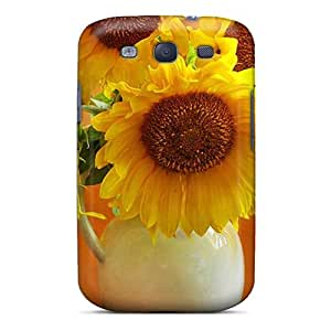 Protective Tpu Case With Fashion Design For Galaxy S3 (still Life Sunflowers)