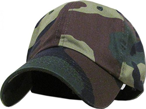Woodland Camo-100% Cotton Adjustable Baseball Cap Hat Polo Style Washed Plain Solid Visor (US - Aviators Ysl