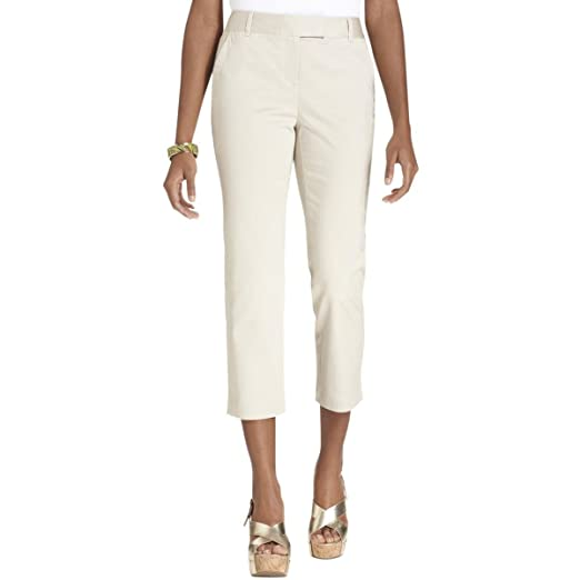 0bd1bde4ddc8c Image Unavailable. Image not available for. Color  Charter Club Womens Plus  Classic Fit Tummy Slimming Capri Pants White 24W
