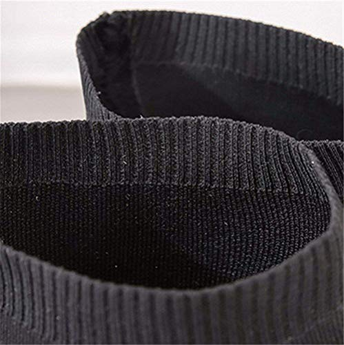 36 Autunno Donna Traspiranti Eu Scarpe Sed Da Boot 38 Knitted All nero Eu match Elastic Cylinder High Stivali Knee w76EqA