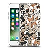 Head Case Designs Basenji Dog Breed Patterns 5 Soft Gel Case for Apple iPhone 7 / iPhone 8