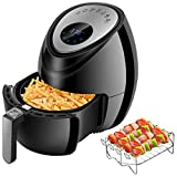 Cheap Digital Deep Air Fryer Cooker – 1500W Power Electric Hot Air Cooker with 7 Cooking Preset, Digital Touch Screen, Detachable Basket Dishwasher Safe, Recipes Included (3.8QT)
