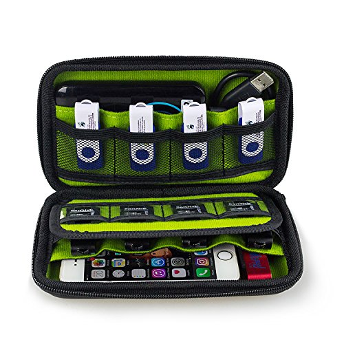 Estarer USB Flash Drives Organizer, Digital Gadget Case Waterproof SD Memory Card Case,Designed for External Hard Drive,CF Card Traveling