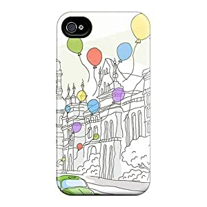 4/4s Scratch-proof Protection Case Cover For Iphone/ Hot Travel Illustrations Phone Case