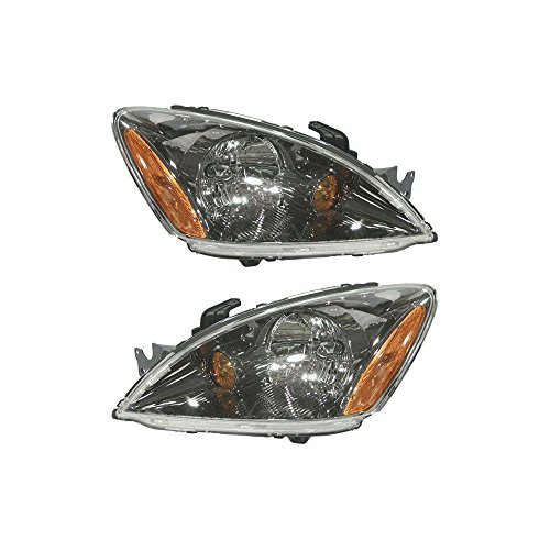 Headlight Set of 2 for 2004-2007 Mitsubishi Lancer ES 4-Door Sedan Right and Left Side Assembly Halogen Sedan/Wagon