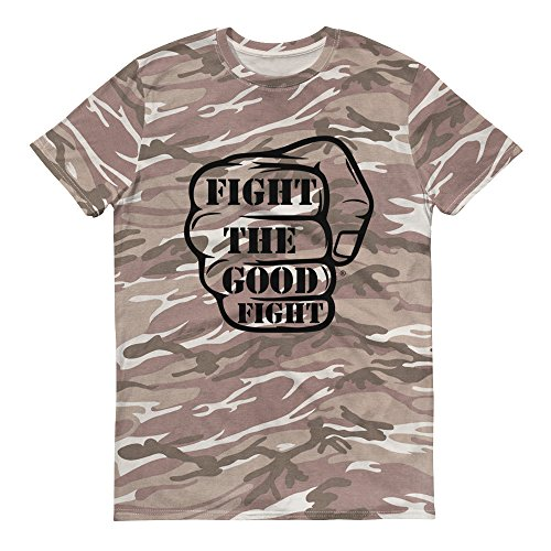 Fight The Good Fight Short-Sleeved Camouflage t-Shirt