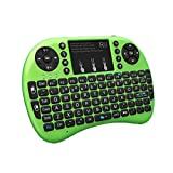 Rii i8+ Mini Wireless 2.4G Back Light Touchpad Keyboard with Mouse for PC/Mac/Android (Green)
