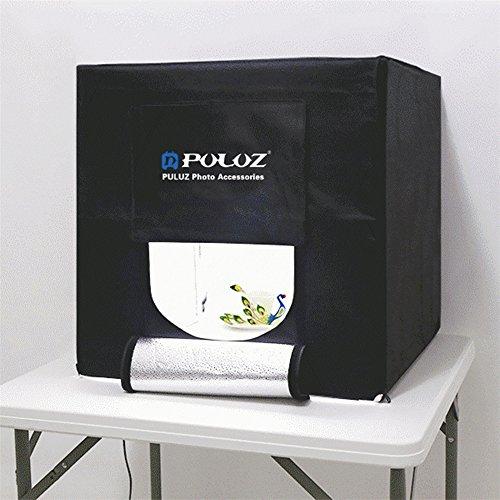 PULUZ 60cm Folding Portable 30W 5500LM White Light Photo Lighting Studio Shooting Tent Box Kit with 3 Colors Backdrops (Black, Orange, White), Size: 60cm x 60cm x 60cm by PULUZ