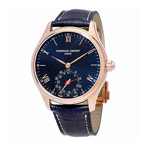 Frederique Constant Men's 'Horological Smart' Swiss Quartz Stainless Steel and Leather Casual Watch, Color:Blue (Model: (Ebel Swiss Watches)