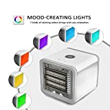Taykoo Portable Mini Air Cooler,USB Portable Personal Space Air Cooler Humidifier Purifier with 7 Colors LED 3 Fan Speeds,Best Cooler Companion For Office,Outdoor,Home