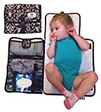 #8: Luxury All in One Portable / Travel Diaper Changing Pad / Mat, Black & White