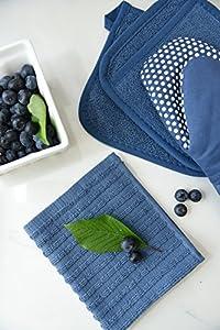Ritz Royale Collection Check Kitchen Dish Towel Set, Paprika, 2-Piece