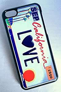 Beautifulcase BLACK cell phone case cover for iPhone 5c 2iDH59Arrvd CALIFORNIA LOVE STATE LICENSE PLATE