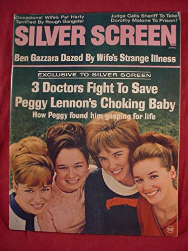 Silver Screen Magazine April 1967 - Near Mint Original Issue - Lennon Sisters Cover - Burt Ward - Ben Gazzara - Phyllis Diller & More!