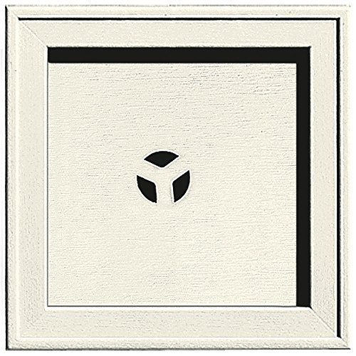 Builders Edge 130110004034 Recessed Square Mounting Block 034, Parchment (Block Mounting Square)