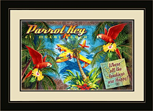 Northwest Art Mall JM-6729 MFGDM HPY Parrot Key Fort Myers Beach Florida Where All Landings are Happy 13