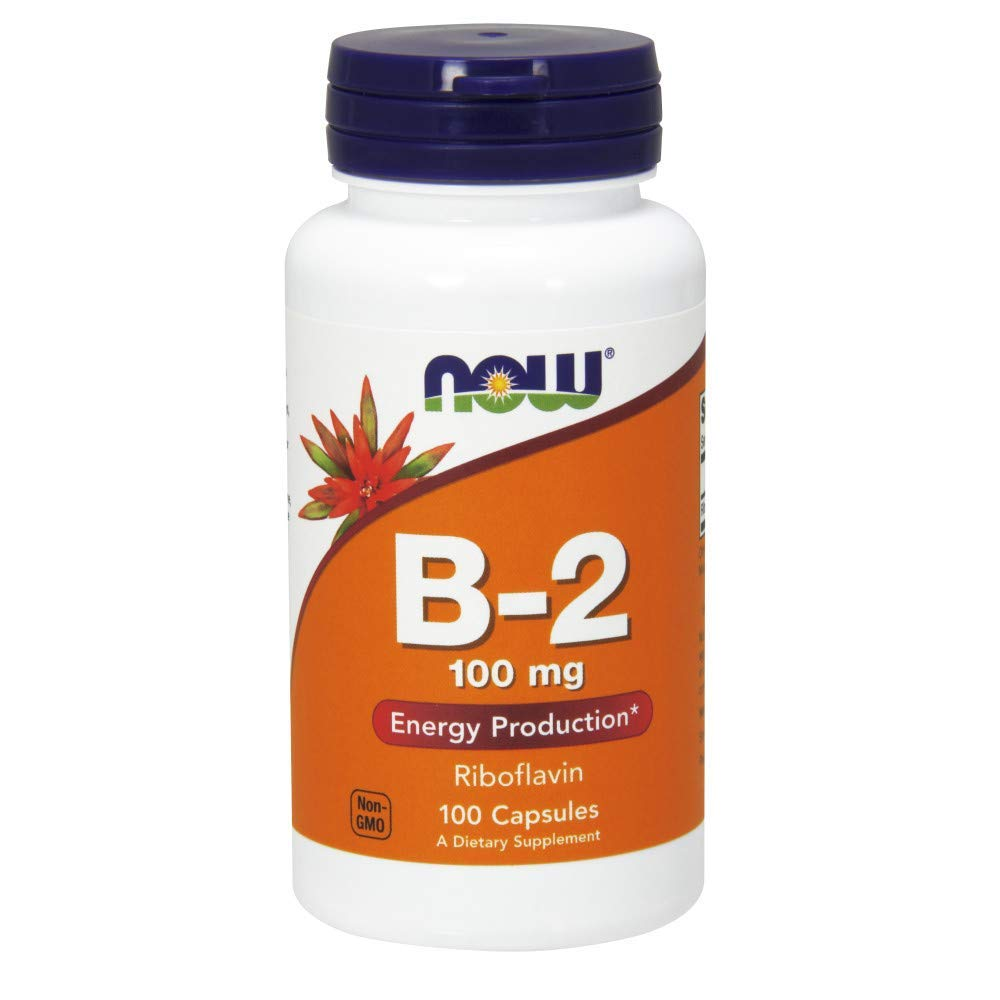 Now Vitamin B-2 (Riboflavin) 100 mg, 455 Capsules (100 mg (455 Count))...