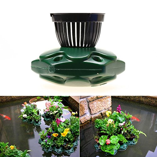4pcs Aquaponics Floating Pond Planter Basket Kit - Hydroponic Island Gardens