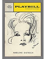 An Evening With MARLENE DIETRICH / Burt Bacharach 1968 Broadway Concert Playbill