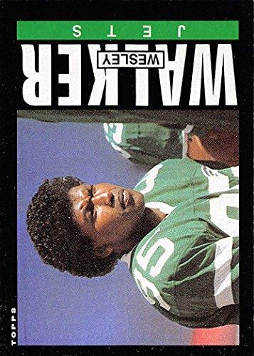 (1985 Topps Football #350 Wesley Walker New York)