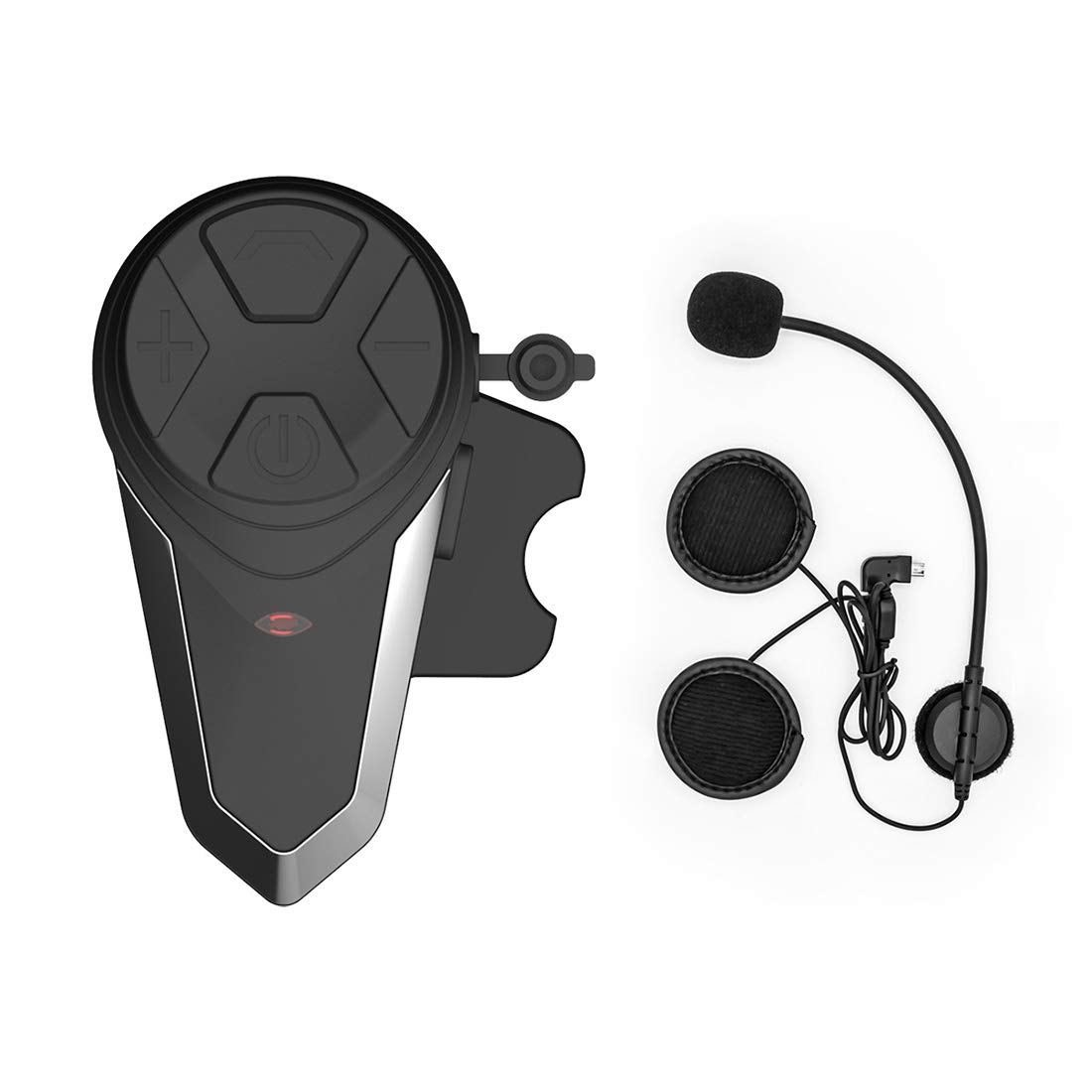 ENCHICAS Motorcycle Communication Systems, BT-S3 Helmet Bluetooth Headset Intercom Wireless Interphone Supports FM Radio, GPS Voice Command, Music, Hands-Free Calls