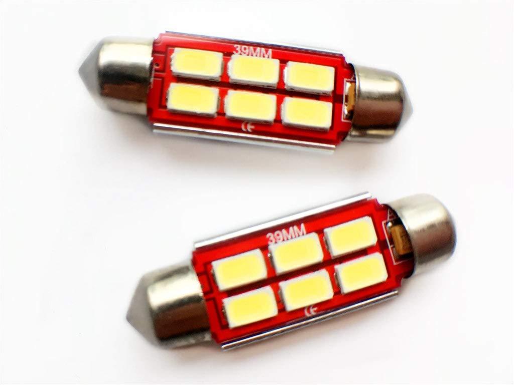 Motoeye 39mm LED Festoon C5W Light Bulbs Eroor Free Car LED Interior Lights Number Plate light White 6000K