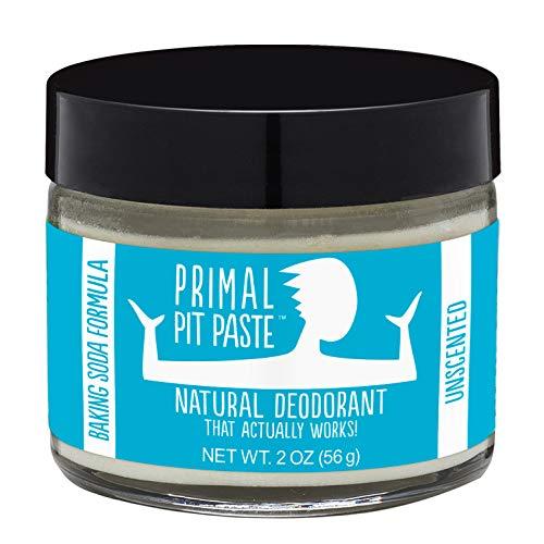 PRIMAL PIT PASTE Natural Unscented Deodorant Jar, 2 OZ