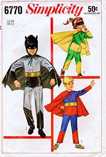 Simplicity 6770 Boys Batman, Robin, & Superman Costumes