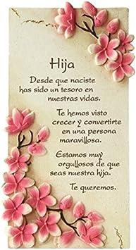 PERGAMINO DE PIEDRA LABRADA CON TEXTOS PARA OCASIONES ESPECIALES, IDEAL PARA REGALO ECONÓMICO. ESPECIAL HIJA