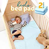 Kids Bed Pad - Waterproof Mattress Protector 47'x 36', Reusable Toddler Bed Pads for Potty Training, Cushion Cover, 2-Pack