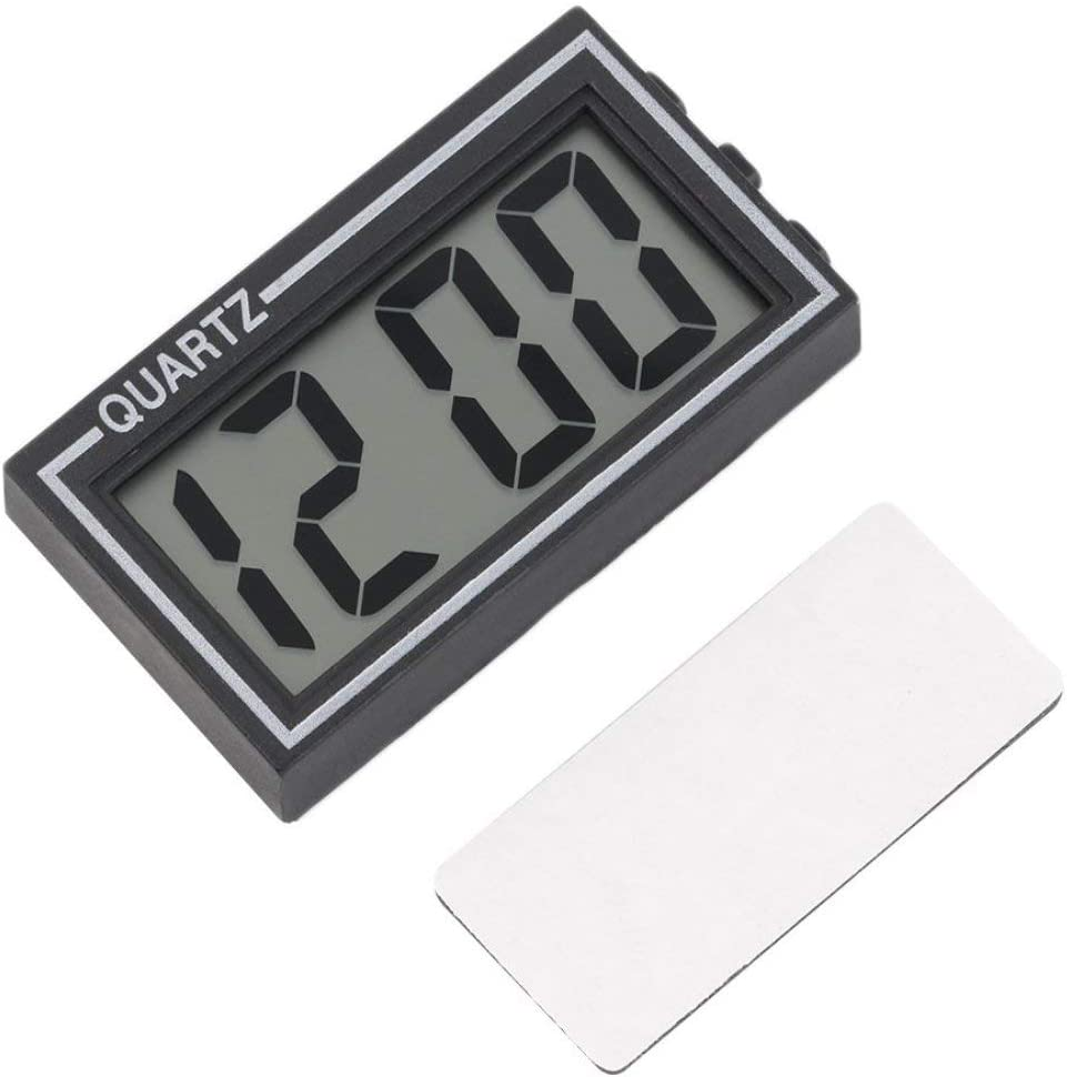 ZK546000 Tablero del Tablero del Coche de la Mesa del LCD del tamaño pequeño plástico Negro Tablero del Calendario del Tiempo de la Fecha pequeña del Reloj con la función del Calendario TS-CD92
