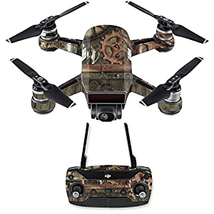 MightySkins Skin Compatible with DJI Spark Mini Drone Combo – Steam Punk Room   Protective, Durable, and Unique Vinyl Decal wrap Cover   Easy to Apply, Remove, and Change Styles   Made in The USA