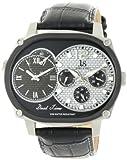 Joshua & Sons Men's Quartz Stainless Steel and Leather Dress Watch, Color:Black (Model: JS729BK)