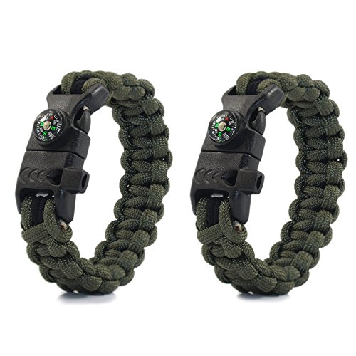 Pottery & Glass Ingenious Parachute Rope 4 Colors Emergency Hand Ring Survival Bracelet Wristband Survival Durable Outdoor Tool Camping Bracelet Hiking