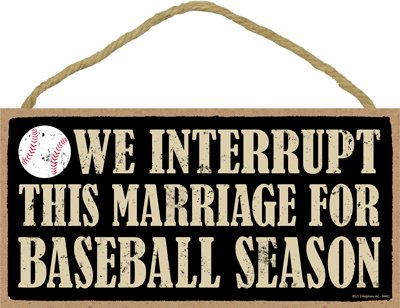 Wood Baseball Plaque - 8