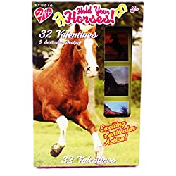 32 Hold Your Horses Lenticular Valentine Classroom Sharing Cards