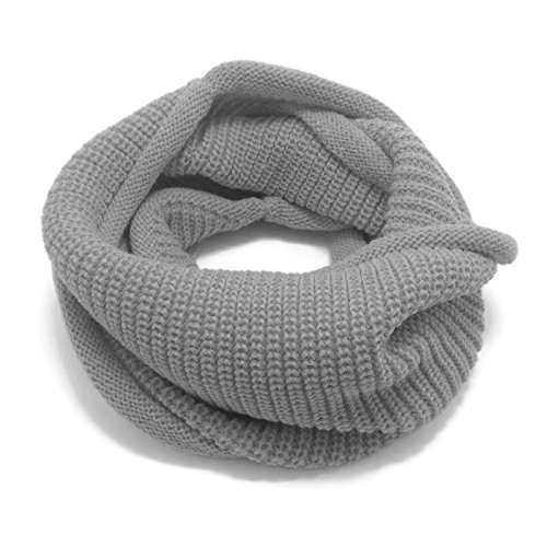 HappyTree Kids Hot Fashion Thick Knitted Winter Warm Infinity Scarf Gray
