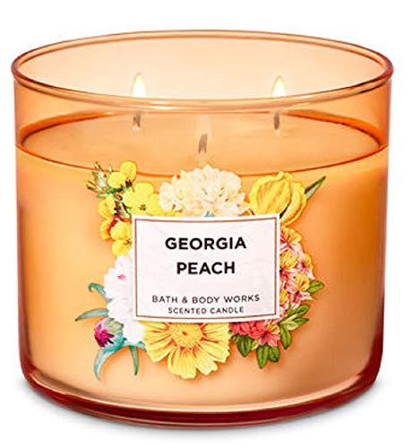 Bath and Body Works 3 Wick Scented Candle Georgia Peach 14.5 - Bath Peach