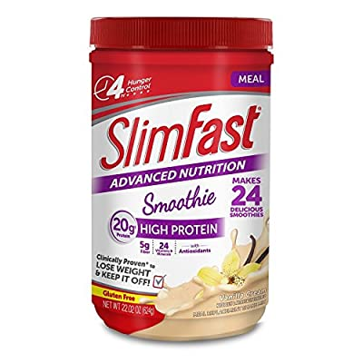 SlimFast Advanced Vanilla Cream Smoothie Mix, 22.02 oz