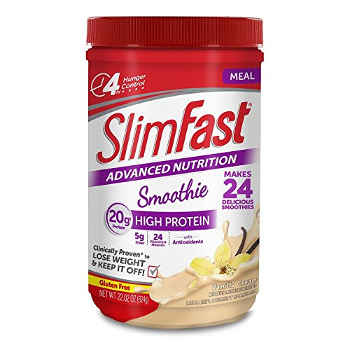 SlimFast Advanced Vanilla Cream Smoothie Mix - 22.02 oz.