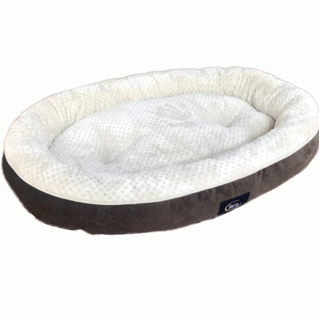 BROWN Large (80X65CM) BROWN Large (80X65CM) Pet Bed Oversized Brown Short Fluffy Waterproof Moisture-Proof Pet Dog Pad Autumn and Winter Thick Warm Pet House A+ (color   Brown, Size   Large (80X65CM))