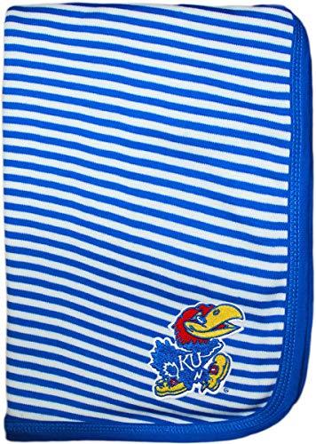 University of Kansas Jayhawk Creative Knitwear Striped Baby and Toddler Blanket ()