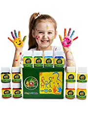 Magicdo 12 Cols Finger Paint Kit for Kids, Washable Paint Set, Non-Toxic Finger Painting Kit for Arts, Crafts and Posters, 12 X 30 ml (1 fl.oz)
